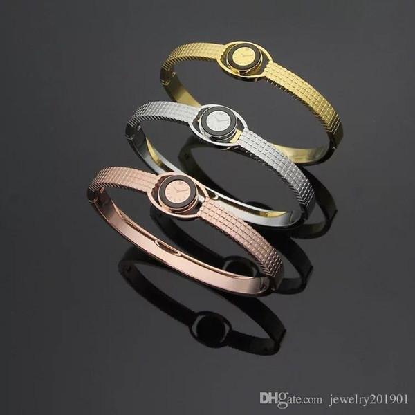 Classic Style Swan Logo Fashion 316L Stainless Steel Bracelet for Men Women No Fade Watch Design Lover's Bracelet Bangle Jewelry