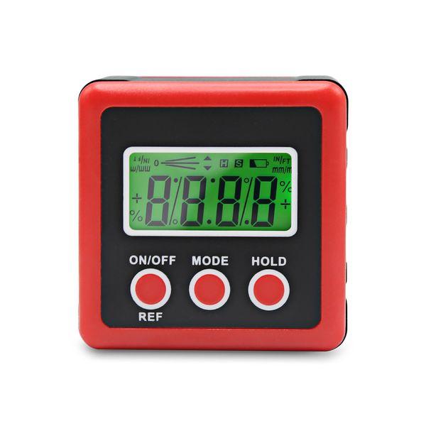 Digital Inclinometer Level Box Protractor Magnetic Angle Finder Angle Gauge Protractor Clinometer Electronic LCD Bevel Box