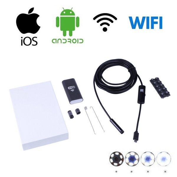 1M 2M 5M 10M USB Endoscope Camera HD 8.5mm Lens Endoscope Wireless Wifi Borescope Video Inspection For Android iOS