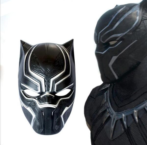 Dibujos animados Accesorios Suministros Halloween Helmet Props Capitán América 3 Civil War Panther Mask Marvel Película Circing Cos Mask V