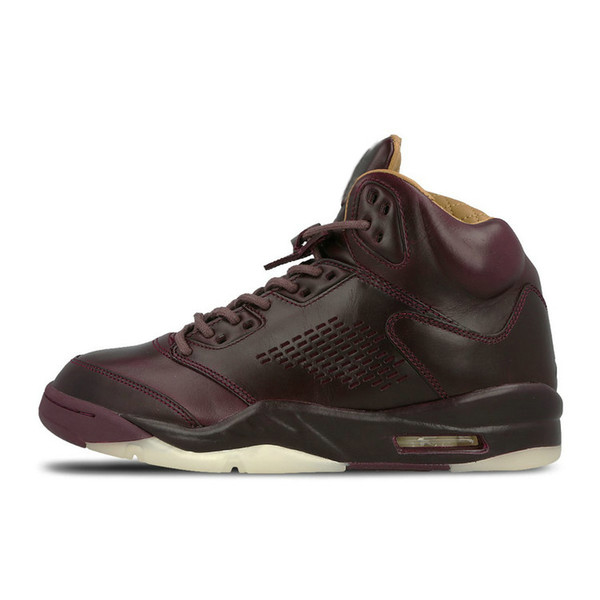 1abaadfb7946 New 5 5s men Basketball Shoes Premium Bordeaux red Blue Suede Heiress Camo  Grey OG Black Metallic Gold white Grapes Cement Sports Sneaker