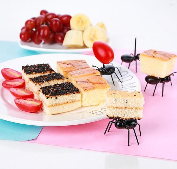 Fourche en forme de fourche en forme de fruit créatif Picker Fourmi réutilisable Fourche Fourchette Vaisselle Multiple usage Snack Cake Fourchette à dessert