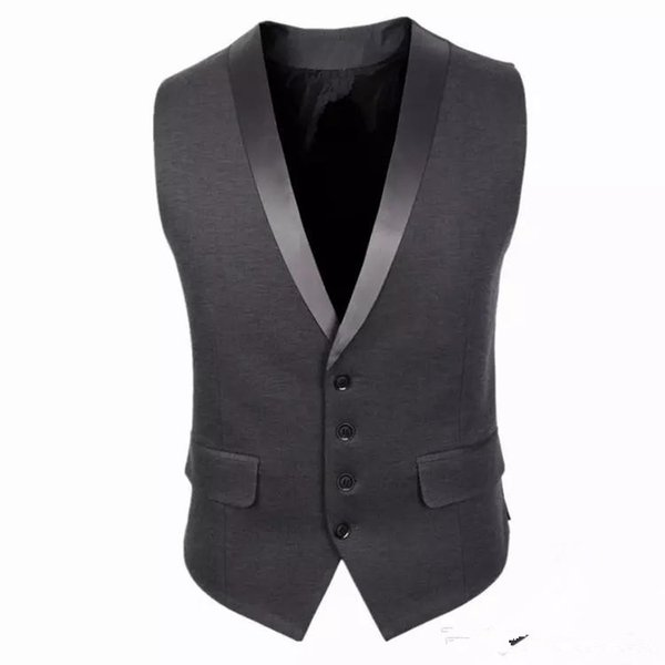 Slim Fit Mens Suit Vest Summer Autumn Korean Sleeveless Suit Vest Men 2018 Cardigan Waistcoat Men Business Casual Formal Groom Vests