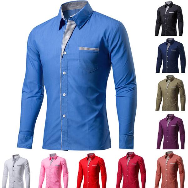 Speed Trade Explosive Money Door Towel Men's 20% Cotton Long Sleeves Pure Color Self-cultivation Business Shirt
