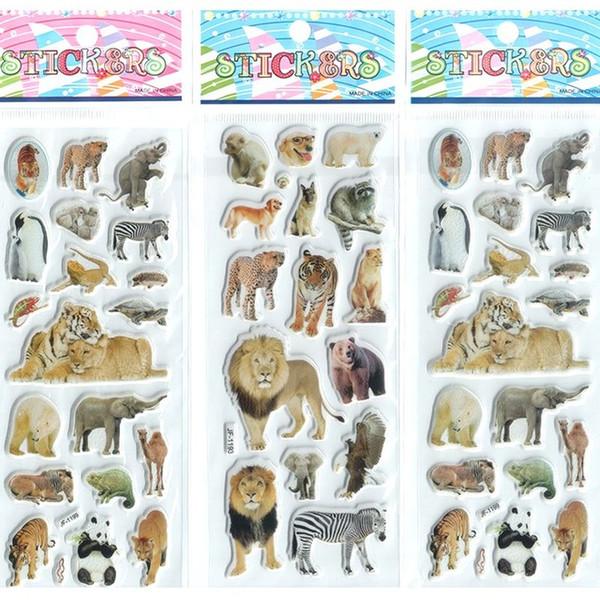 wholesale 200pcs Little Boys Girls Baby Cartoon Stickers Aninals Kawaii Gifts set Princess Toys Beautiful Develop Intelligence