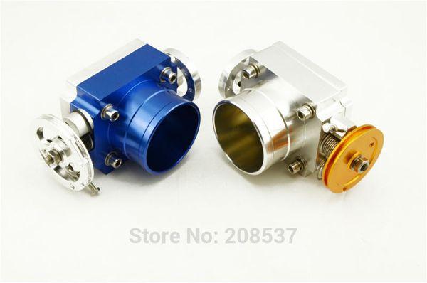 Prata azul 70mm Throttle Body Performance Intake Manifold Billet De Alumínio de Alto Fluxo Universal Jdm