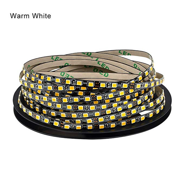 IP44 lado 5mm LED luz de tira 2835 SMD diodo flexibles tiras 120leds lámpara cinta / m DC12V llevó RODILLOS 5m de la cinta