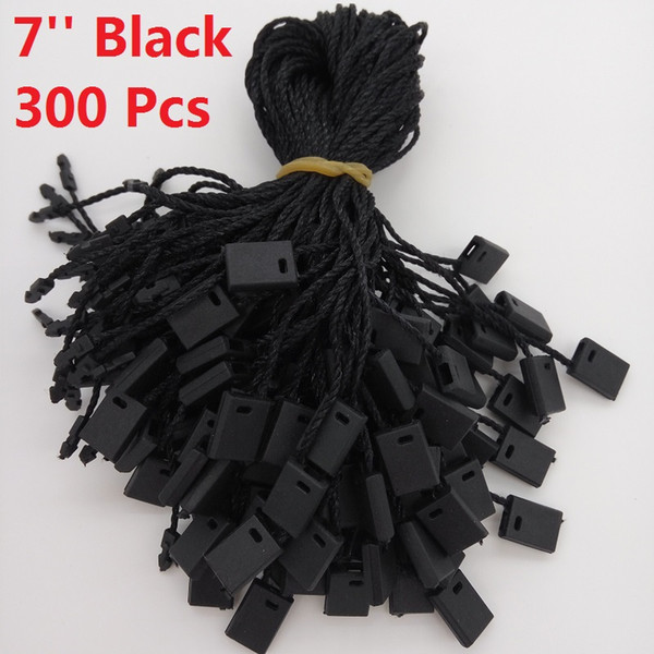 """best selling 7"""" Garment Hang Tag String Black 300 Pieces Black Hang Tag Nylon Cord For Price"""