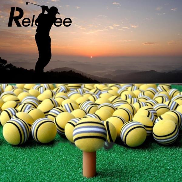 50 Stücke Pro Helle Gelbe Golf Rainbow Sponge Ball Training Praxis Weihnachtsgeschenk