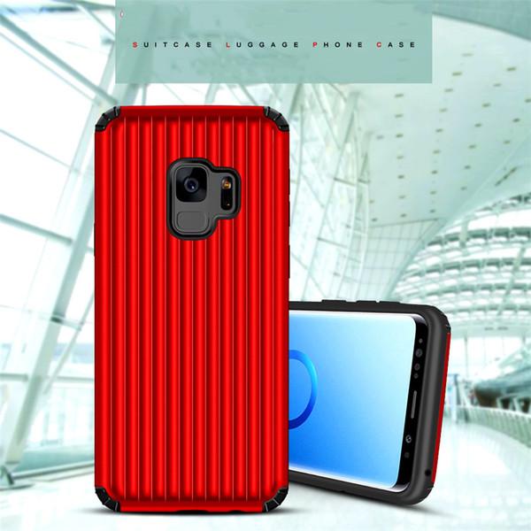 Estuche híbrido de doble capa Armor Shockproof para el iphone X 8 7 6 s Plus Samsung Galaxy S9 S8 Note8 Maleta de equipaje Defender cajas del teléfono