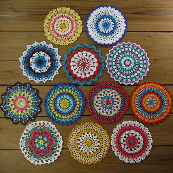 2019 12 Hand Dyed Craft Doilies, Crochet Mandalas For Decorating And  Crafts, Shabby Decor, Wedding Doilies, Doilies For Decor, Crafts, And Dream  From ...