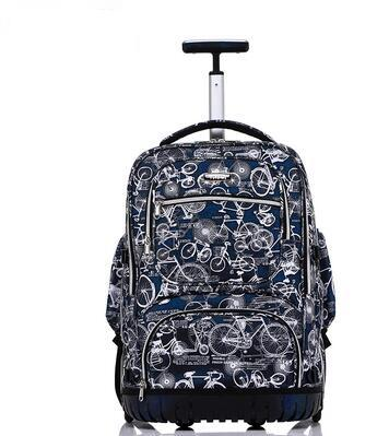 School Rolling backpack 19 inch Wheeled backpack for boys School bag On wheel Children Travel Trolley backpack bag for teenagers