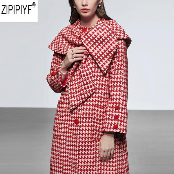 2018 Nuova moda inverno sciolto plaid scialle moda di alta qualità elegante scialle o-collo monopetto donne plaid cappotto di lana c2614