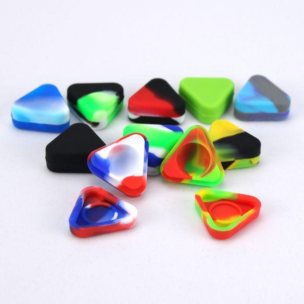 Dreieck-Silikon-Behälter-Nahrungsmittelgrad-kleiner Gummi 1.5ML Antihaft-Glas-Tupfen-Werkzeug-Speicher-Öl-Halter-Miniwachs-Behälter für Zerstäuber Vape