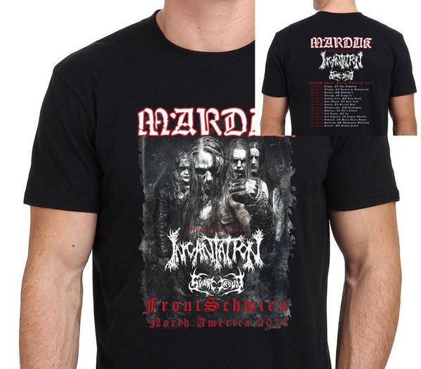 Camiseta Marduk North America Tour 2017 para hombre Tamaño: S-3XL 2018 Nueva llegada camiseta para hombre Nuevo verano 2018 100% algodón