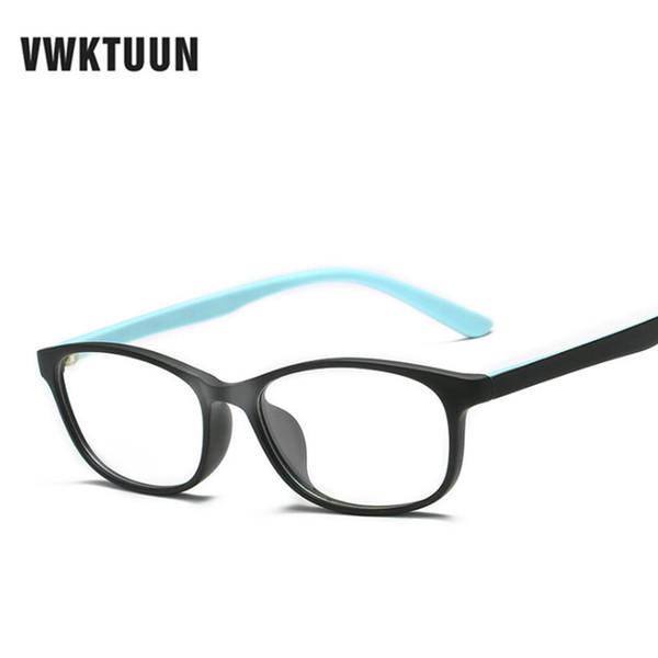 VWKTUUN 스펙터클 프레임 사각형 안경 프레임 클리어 렌즈 여성 안경 광학 프레임 근시 파란색 빨간색 핑크 안경 프레임