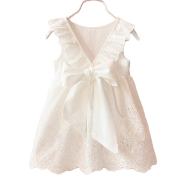 New Summer Princess Baby Girl Dress bambini Big Bow Girl Party Abiti da sposa Bambini Vestido Infantis Abbigliamento Abbigliamento per bambini