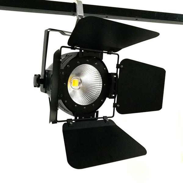 Luce parabolica a LED COB 100W con porte da fienile Alta potenza Alluminio bianco freddo e bianco caldo Effetto stroboscopico Effetto stroboscopico