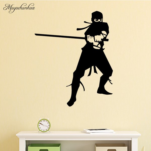 Muyuchunhua Ninja Wall Stickers Home Decoration Accessories For Living Room Removable Pvc Waterproof Wall Art Stickers Tree Wall Stickers For Bedrooms