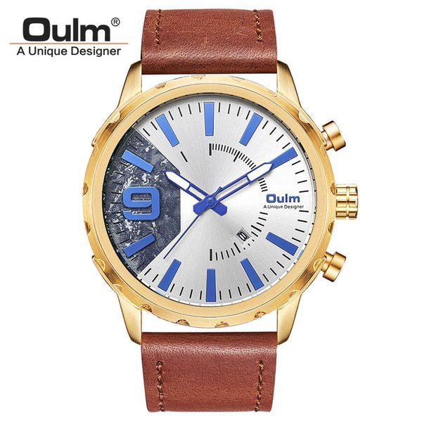 wholesale Men's Watches Genuine Leather Strap Casual Business Male Quartz Watch Men Luxury Brand Auto Date Military Wrist Watch