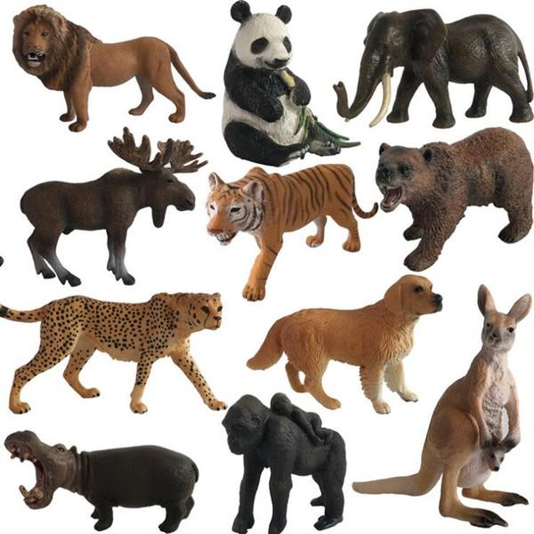 40 Disegni PVC Animali Modello Giocattoli Originale Wild Life Zoo Animali della giungla Modello Giocattoli educativi per bambini Regalo per bambini Regali per bambini LA537