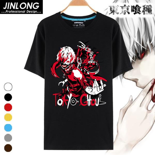 Hot New Costume Tokyo Ghoul T-shirt Japan Anime Printed T-shirts Breathable Milk Fiber T Shirt For Men Women Tees Tops