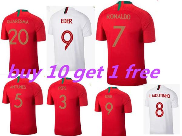 finest selection 7cc13 13a63 2017 2018 World Cup Jersey Portugal Soccer Jerseys Cr7 Cristiano Ronaldo 7  Quaresma Nani Football Kit Shirt Camisa De Futebol Maillot De Foot From ...