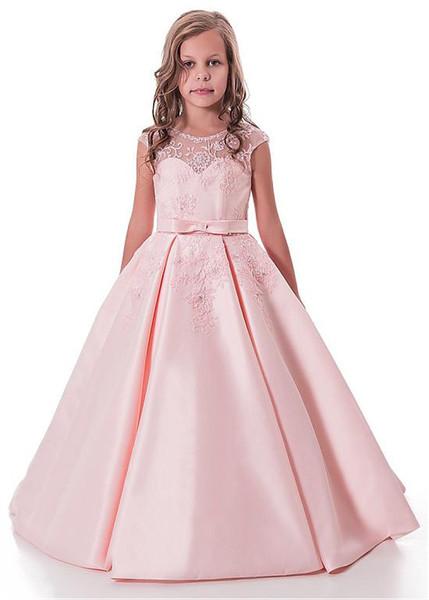 2018 flower girl dress bud silk screen flower girl dress in the children's wedding dress
