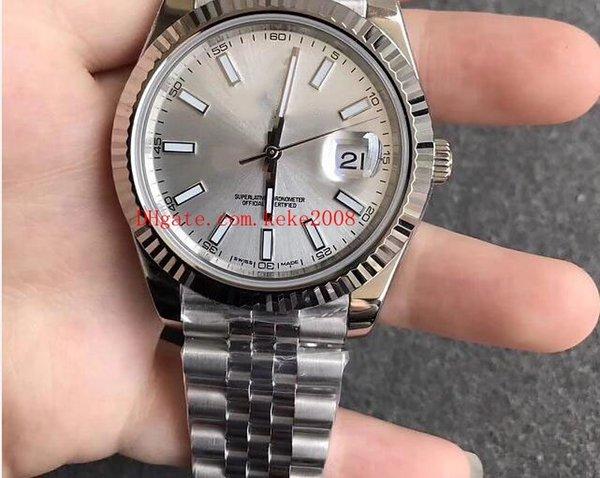 2 estilo de Luxo Melhor qualidade Relógios De Pulso N Fábrica Datejust 126334 41mm 316L Swiss ETA 3255 Movimento Automático Mecânica Mens Watch Relógios