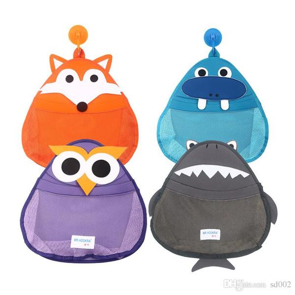 Practical Cartoon Pouch Owl Walrus Fox Shark Shape Storage Bag For Bathroom Wall Hanging Mesh Bags Fashion 21zs BB