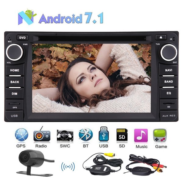 Octa Core In Dash Headunit Double Din Car Autoradio Stereo Android 7.1 GPS Car DVD CD Player for TOYOTA Corolla WiFi OBD2