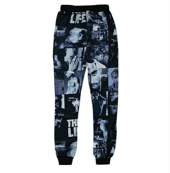 Hot Selling 3D Rapper 2Pac Printed Pants Jogger Pants Men's Casual Harem Pants Cool Sweatpants Hip Hop Style Trousers AMS010
