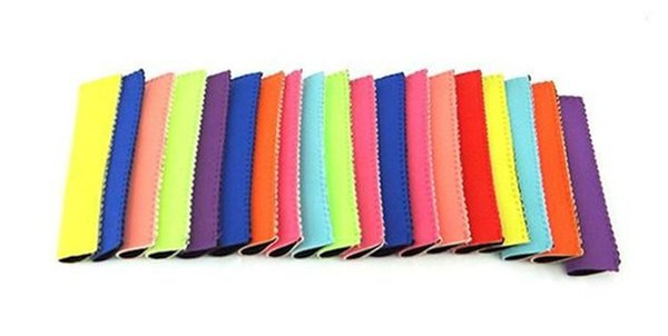 Popsicle Holders Pop Ice Sleeves Freezer Pop Holders 15x4.2cm for Kids Summer Kitchen Tools 10 color