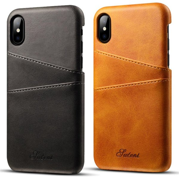 For iPhone XS Max XR Card Inserting Leather Cover Phone Case Against Falling Protective Cover For iPhone X 6 7 8 Plus