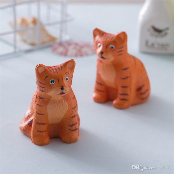 PU Slow Rising Squishy Simulation Tiger Shaped Squishies Reduce Pressure Cute With Scented Toys For Children Funny 11xk BB