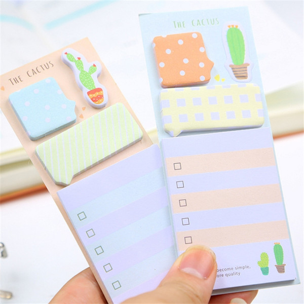 NOVERTY Cactus Cute stickers planner kawaii sticky notes stationery planner stickers memo pad cute papeleria notepad stick