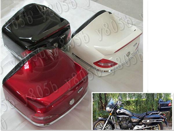 Motosiklet Gövde Bagaj Durumda Kuyruk Kutusu Raf Arkalığı Için Gölge Ruhu Saber Aero ACE Steed VLX 400 600 1100 DLX VTX1300