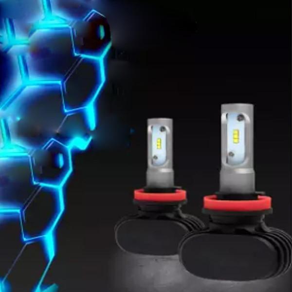 2Pcs 9006 H11 H4 H7 LED Car Headlight Bulbs 6500K 12V CSP CREE Chips Bulb 200W 20000LM Kit Auto Head Lamp