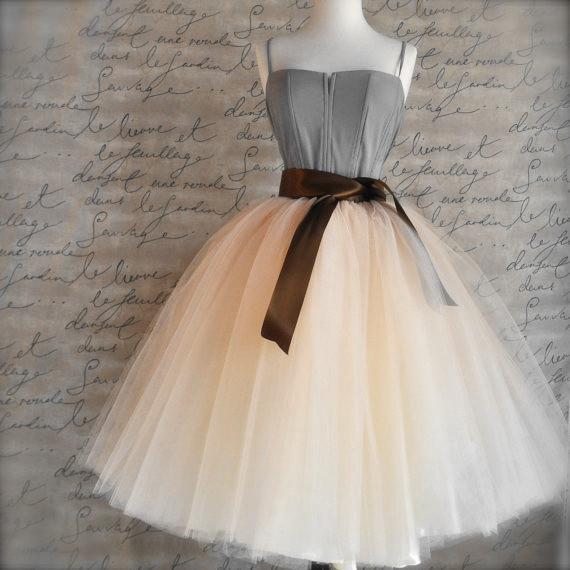 df896cab398 2019 7 Layers Midi Tulle Skirts Womens Fashion TUTU Skirt Elegant ...