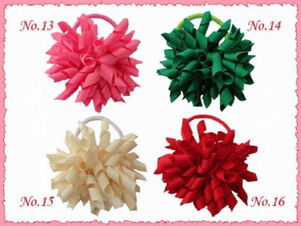 "60pcs 3.5"" whirl korker ponytail hair ties holders streamer corker hair bows clip Cheer Bows tassel Curly Ribbon Bow hair bobbles PD006"