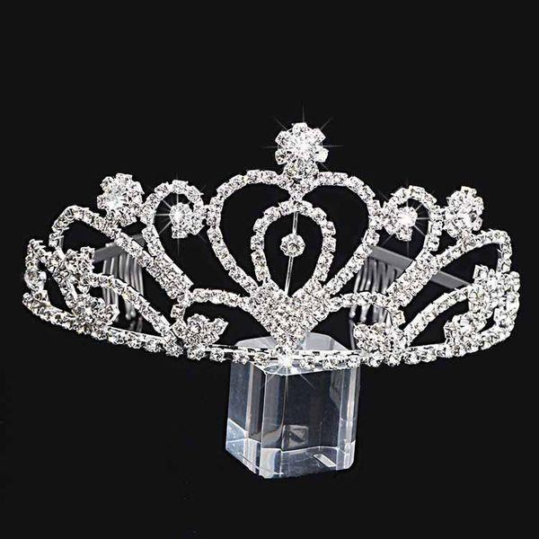 best selling Handmade Luxury Silver Wedding Bridal Crystal Crown Bridesmaid Big Tiaras Nice Gift For Girl 12.6*6.5CM H0014