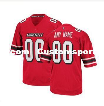 Cheap custom Louisville Cardinals red College football jersey Customized Any name number Stitched Jersey MEN WOMEN YOUTH XS-5XL