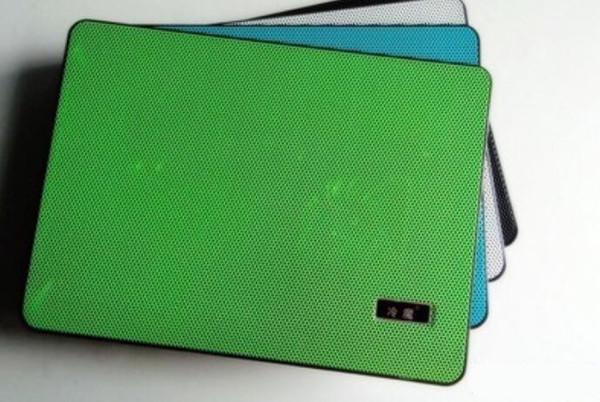 Ultra thin portable heat dissipation double fans notebook mute radiator bottom cushion