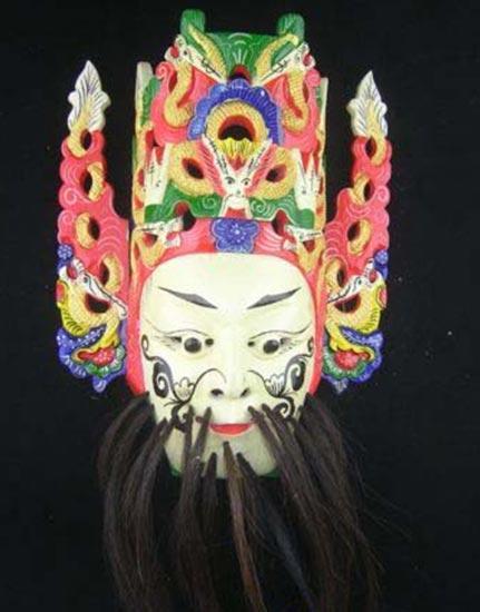 Chinese Drama Home Wall Décor Opera Mask 100% Wood Craft Folk Art #104 Pro Level