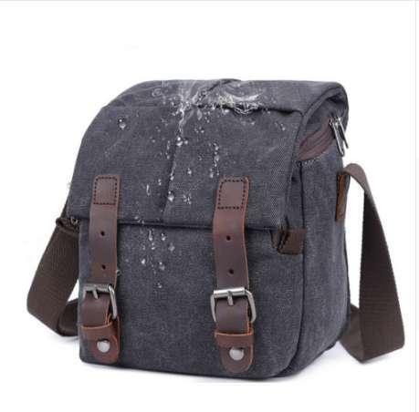 Shoulder Sling SLR Photography Digital Camera Bag Small Travel Case Canvas Vintage Shoulder Bag for Nikon Sony Canon DSLR Camera
