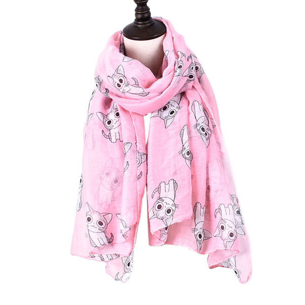 2018 Female Mini Chi's Lovely Home Cat Printed Scarf Cute Carton Figure Chi Cat Blanket Stole Wrap Cute Anime Scarves And Shawls