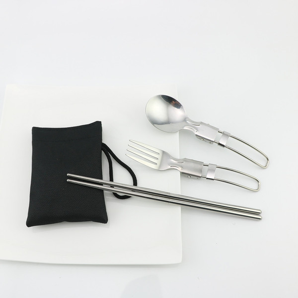 Chopsticks + spoon + fork