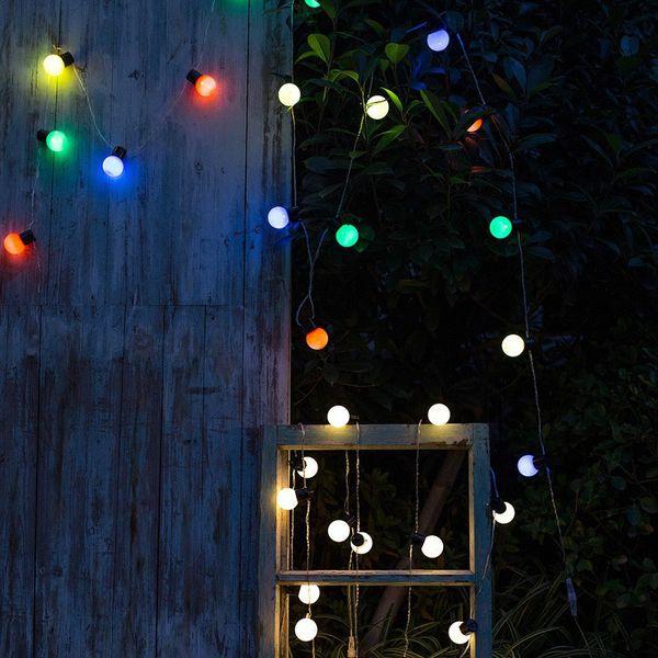Wholesale!G40 20LED Retro Round Bulb Waterproof Warm White Light AC Power String Lights Lamp Outdoor Garden Patio Home Decor Wedding Light
