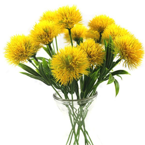 Hot NOUVEAU Artificielle fleurs pissenlit En Plastique Fleur De Mariage Décoration de La Maison Saint Valentin Décor Longueur 25 cm
