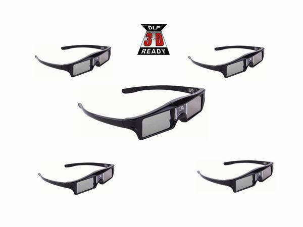 5adet Aktif deklanşör Acer // Optoma / ViewSonic / Dell / LG / Vivitek / DLP Bağlantısı Projektör için 144Hz 3D Gözlük